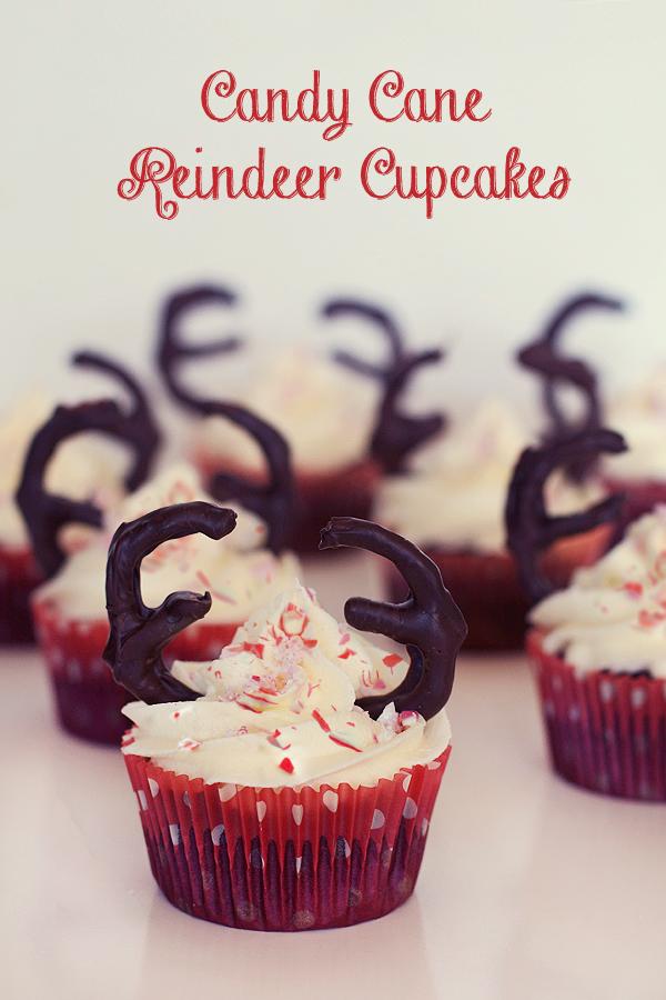 Candy Cane Reindeer Cupcakes Love Swah