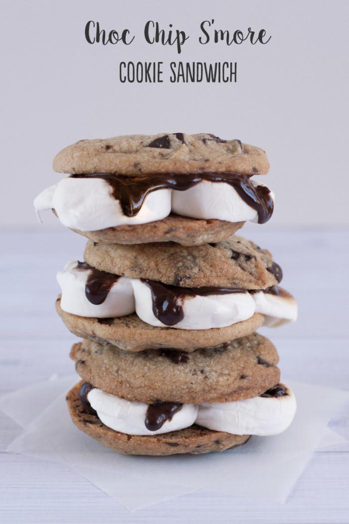 choc-chip-smores-cookie-sandwich