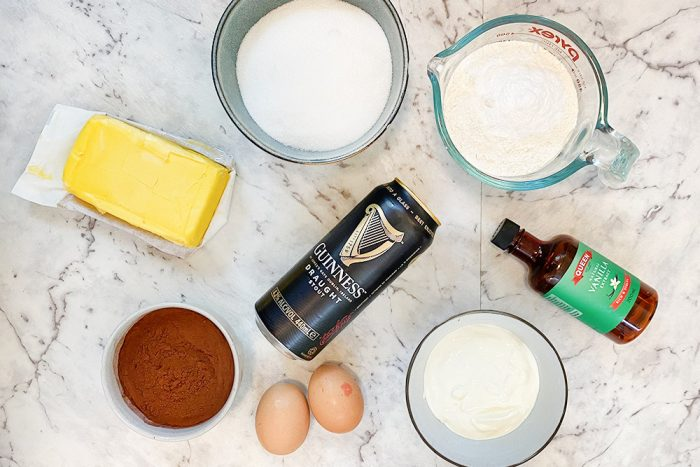 Dark Chocolate Guinness Cake ingredients