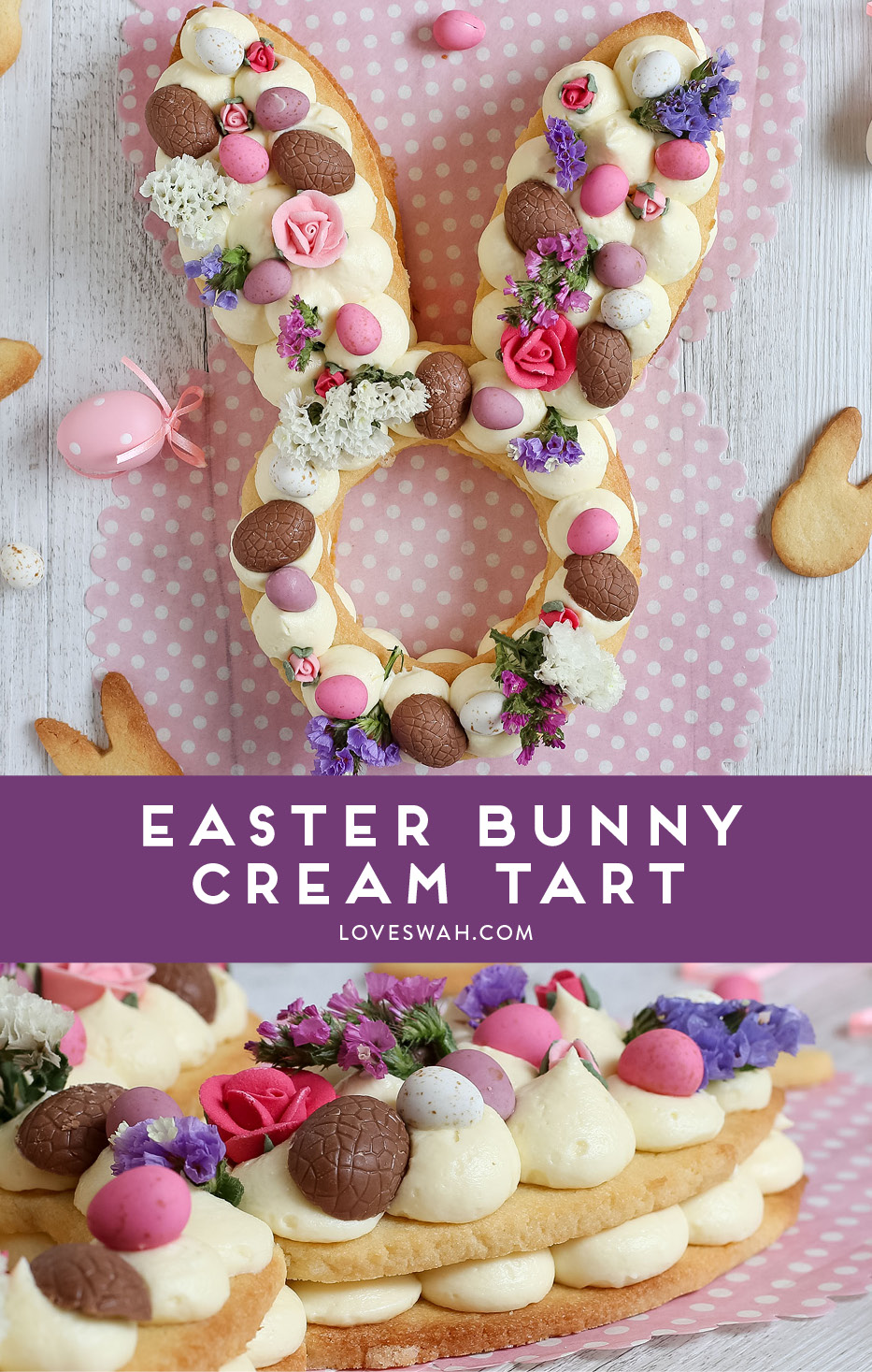 Easter Bunny Cream Tart Love Swah