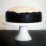 Dark Chocolate Guinness Cake with Baileys Irish Cream Cheese Icing