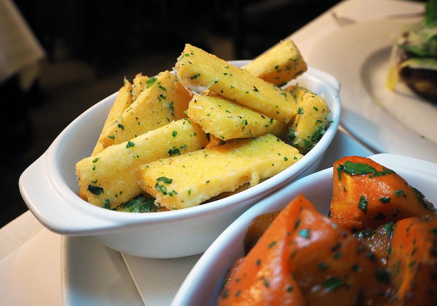 onesta-cucina-polenta-chips-carrots - Love Swah