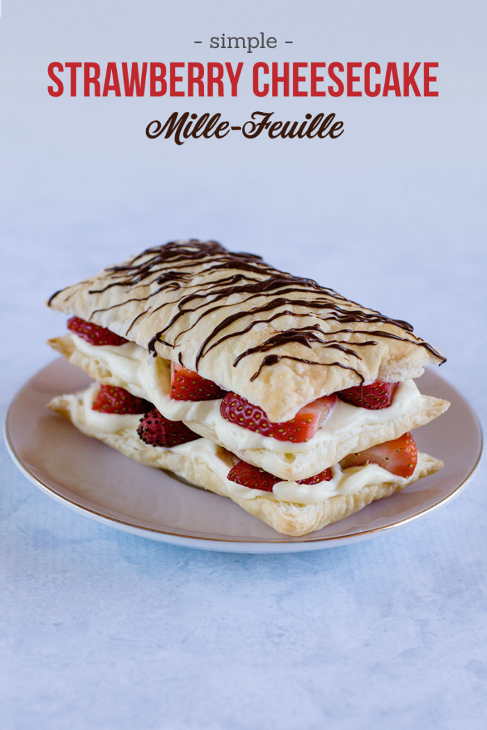 Strawberry Cheesecake Mille-Feuille (Aka Napoleons)