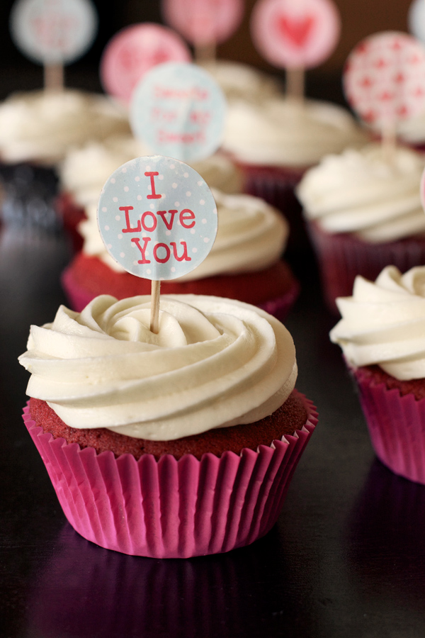 Happy Valentine S Day Red Velvet Surprise Cupcakes With White
